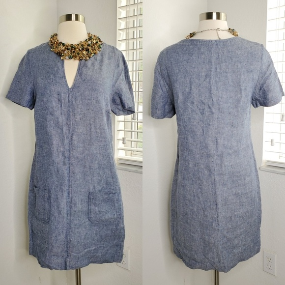 new product latest collection 100% satisfaction •THE WHITE COMPANY LONDON• Linen Smock Dress.